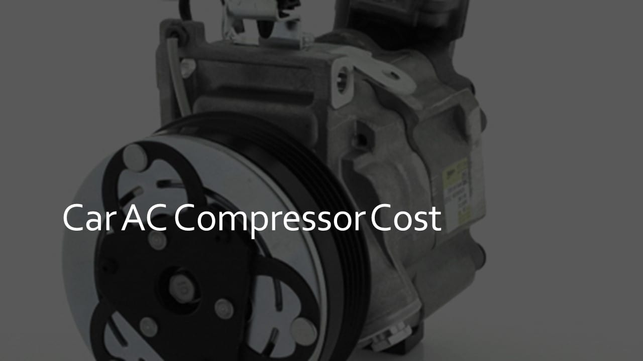 car ac compressor cost