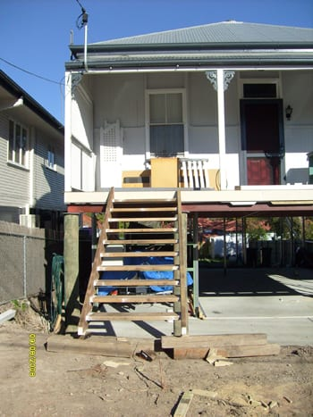 house raise and new stairs