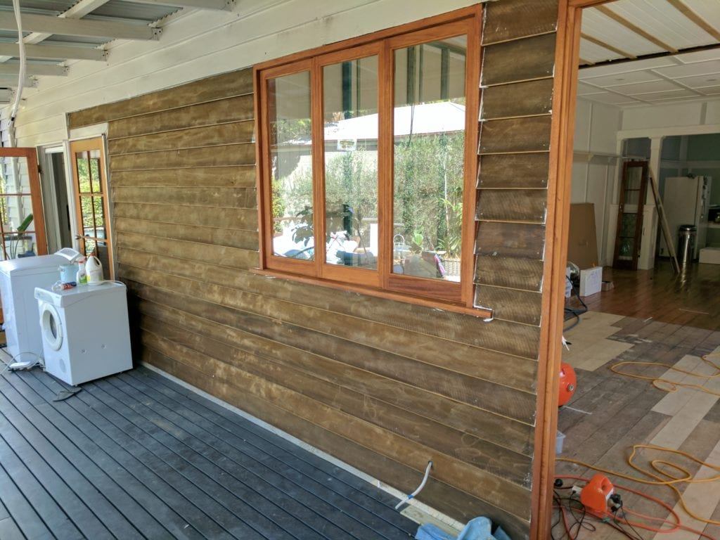 new exterior timber walls of brisbane house