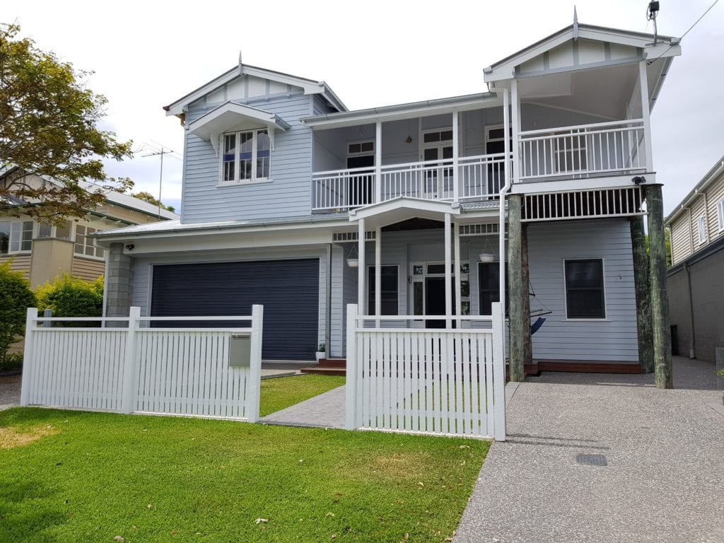 Queenslander home after extension and renovations in brisbane