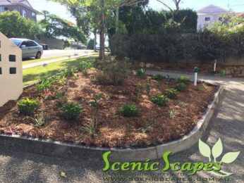 feature garden for unit complex
