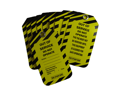Out of Service Tags 10 Pack