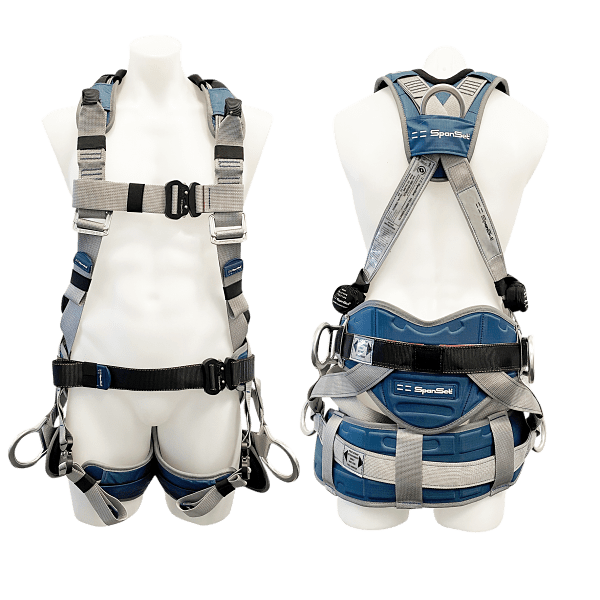 Spanset pole top harness with buttock seat 1600-Ergoiplus