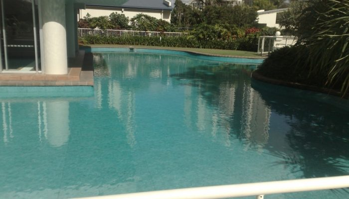 Lagoon at Broadbeach: Finished in Maldive coloured liner