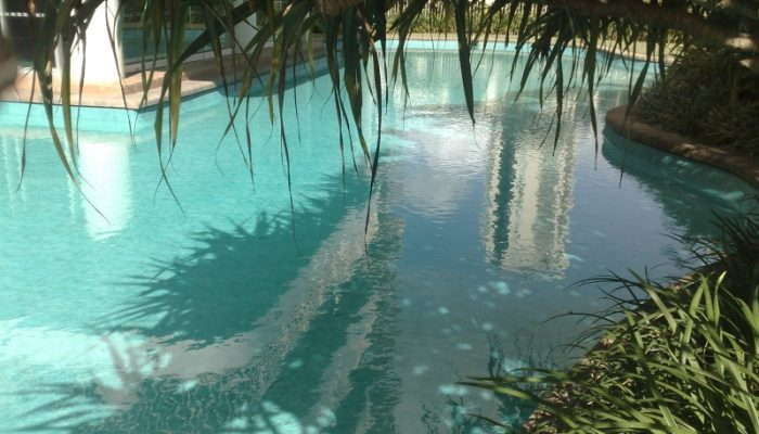 Lagoon at Broadbeach: The Maldive pool liner gave off a beautiful reflection