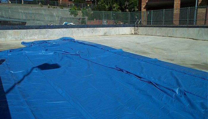 During: Liner Laid Out In Position