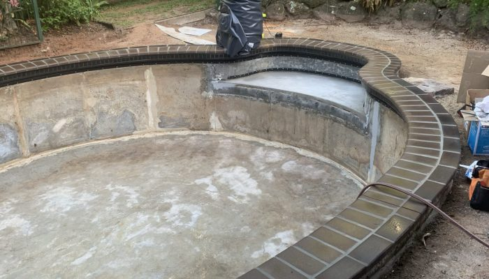 Pool Fab pool ready for new liner.