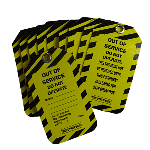 Out Of Service Tags 10 Pack Reusable