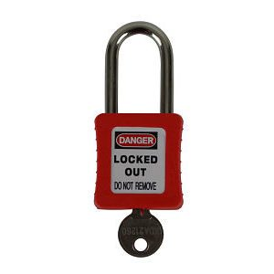 Plastic Body Lockout Padlock Red