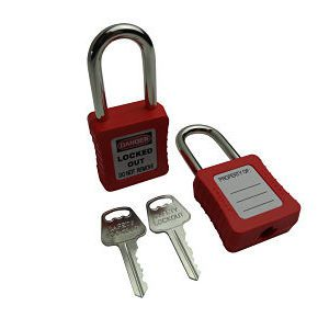 Lockout Tagout Padlock Set of 2 This Keyed alike Lockout Padlock Set of 3 is designed specifically for use in Lockout/Tagout applications. They Come complete with 2 keys that have unique matching key numbers. These locks are compact yet rugged and have a body that is tough, Durable and ultra lightweight that make them ideal for use in harsh industrial environments. Features Keyed Alike with 2 keys with unique matching key numbers Permanent write-on labels for individual markings. Key retaining design ensure padlock is not left unlocked. 6-pin precision machined keys for extra security. Shackle length of 40mm.