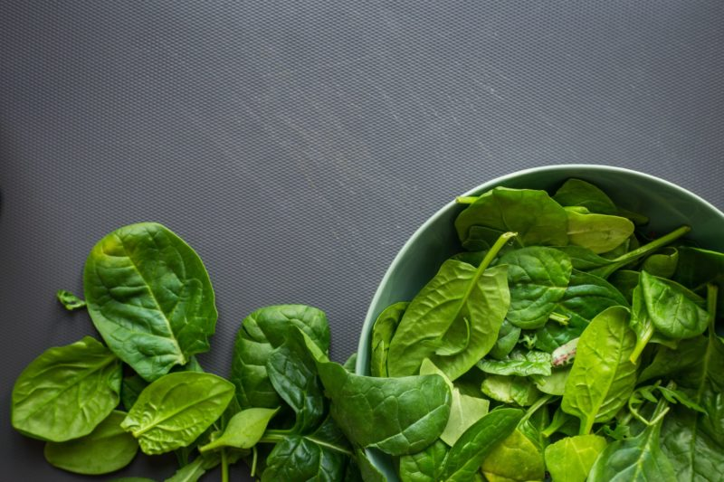 Spinach and dark leafy greens for magnesium, PMS pain, muscle relaxation The Best Foods To Feed Your Vagina