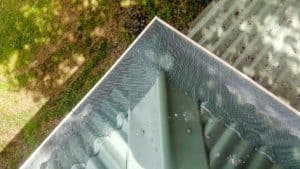 gutter guard mesh on corrugated roof