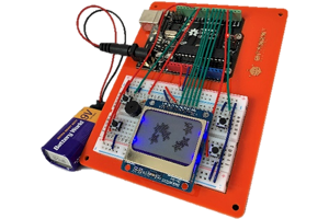 a handheld games console that children learn to build
