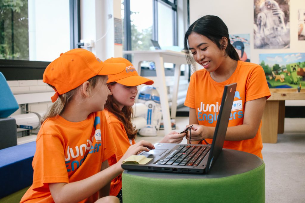 rent a laptop for school holidays programs with junior engineers